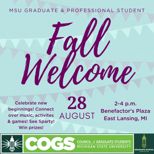 COGS Fall Welcome Flyer 2021