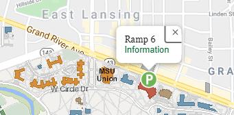 map showing ramp 6 msu