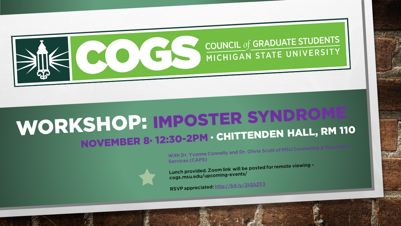 COGS Workshop Nov. 8th - Imposter Syndrome