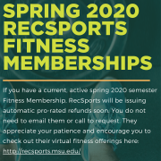 message from rec sports