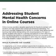 MSU addressing mental health concerns flyer