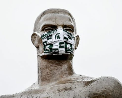 Sparty with mask photo