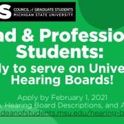 Apply to serve on Hearing Boards Post