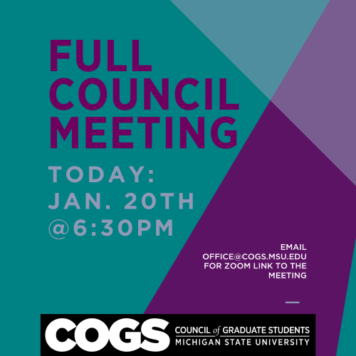 COGS Full Council Meeting Notice