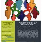 Flyer for RCPD Community Groups 2021