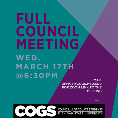 Full Council Meeting March 17 announcement