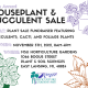 Houseplant and Succulent sale Flyer